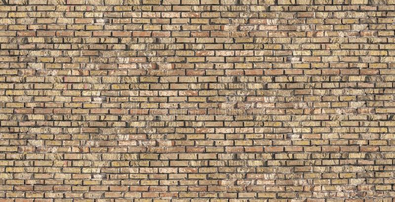 Old ruined brick wall texture. Grunge background stock image