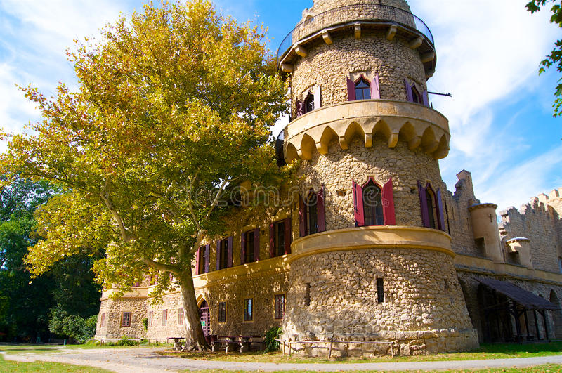 An old ruined castle. In Czech Republic Europe royalty free stock photography