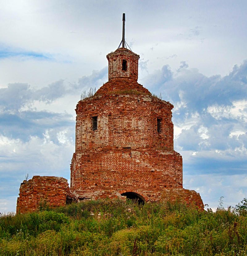 Old ruined church royalty free stock image