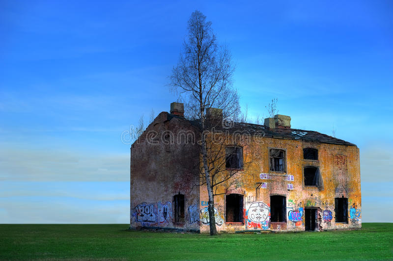 Old ruined house royalty free stock images