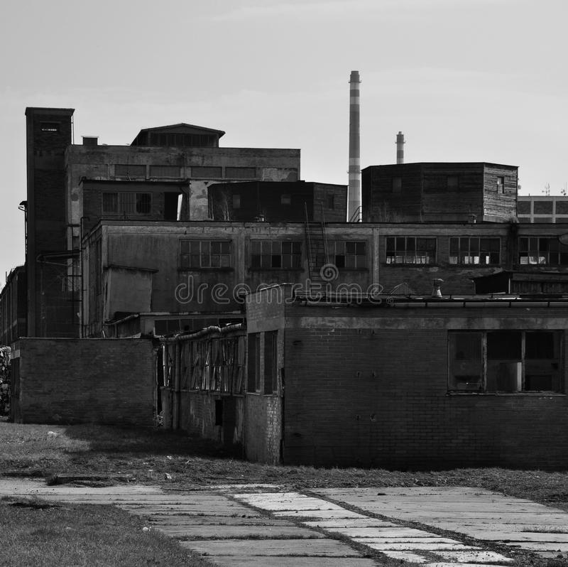 Free Old Ruined Industrial Factory Bw Stock Photos - 25996033
