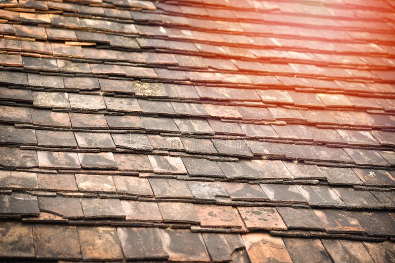 Old roof stock photos