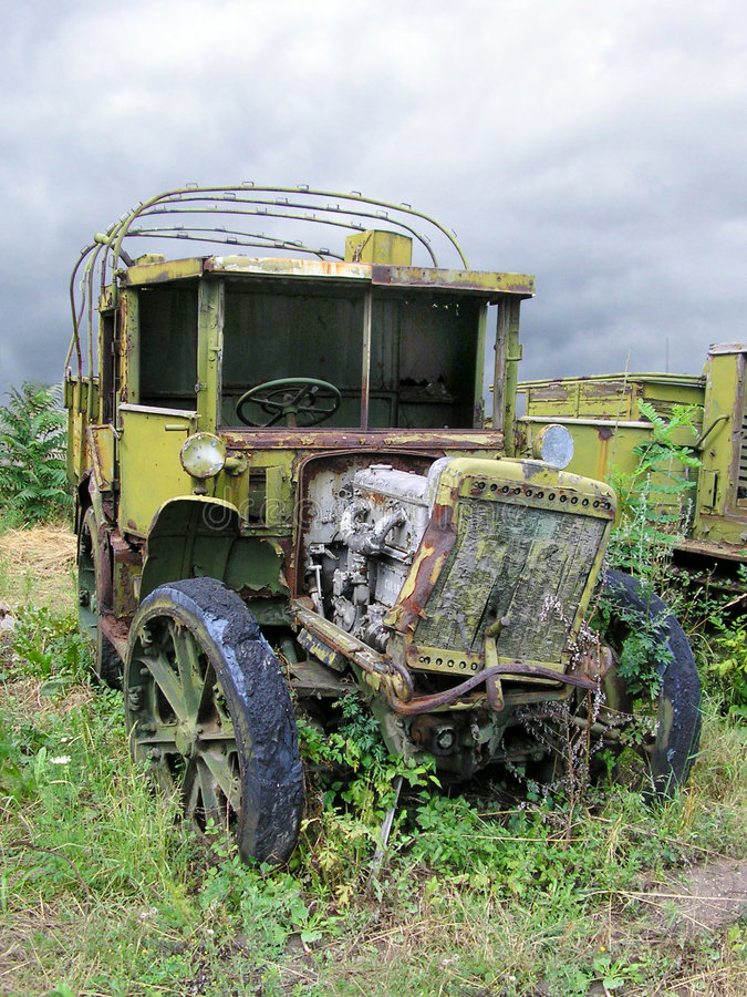 Download Old Ruined Russian Military Truck From WWII Stock Image - Image: 175275