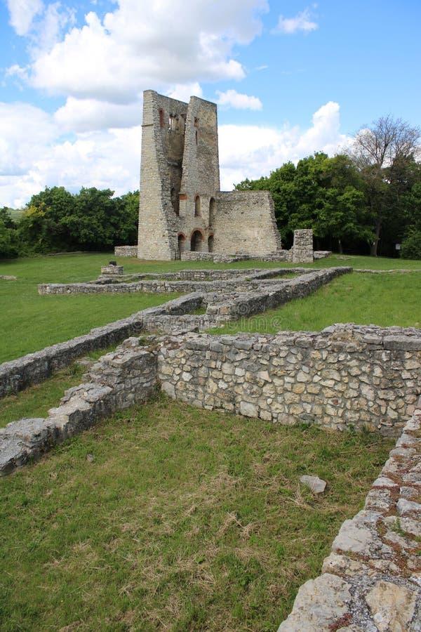 Old ruins of a church. Ruins of a church at Dorgicse, Hungary royalty free stock image