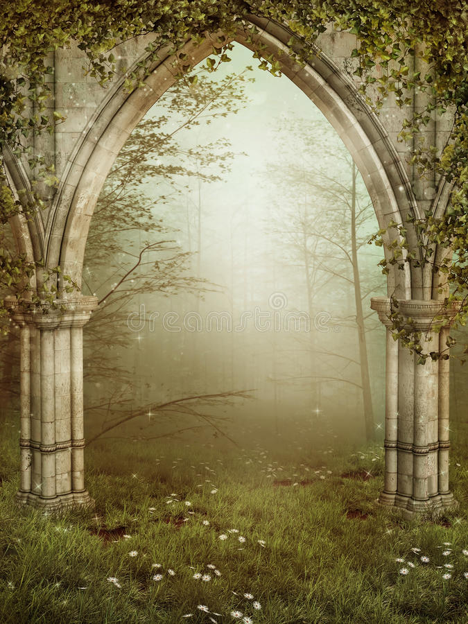 Download Old ruins with ivy stock illustration. Image of tree - 20547274
