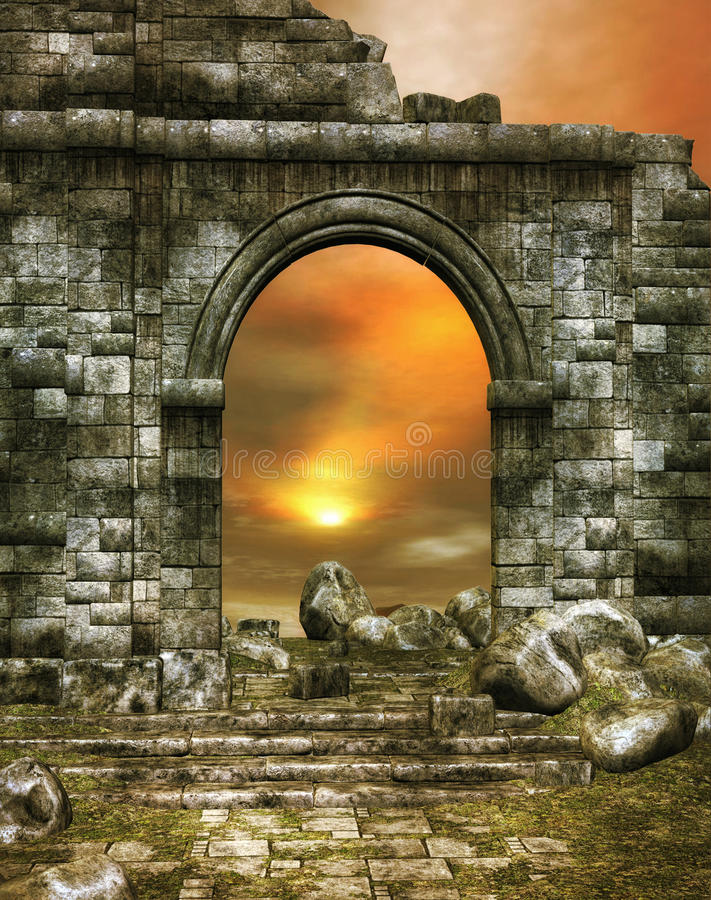 Old Ruins stock illustration