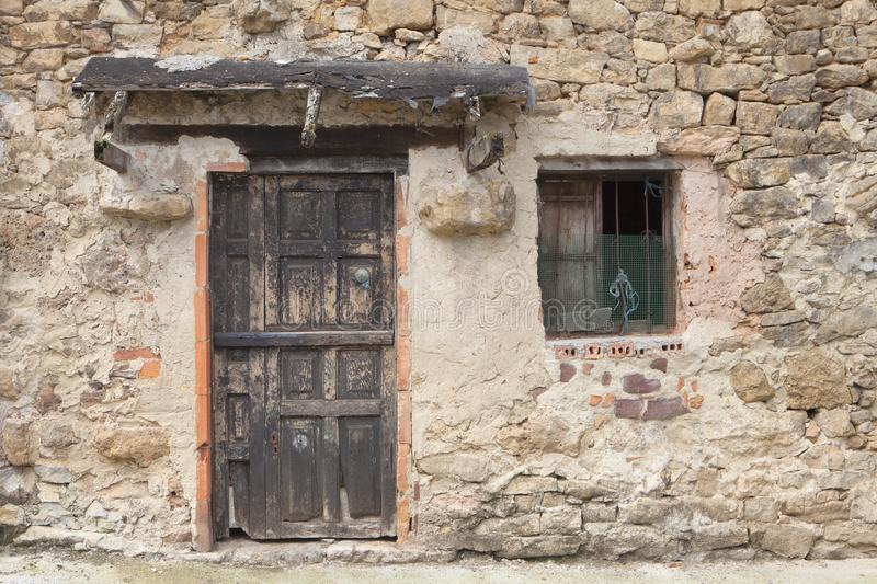 Old rural house in Asturias stock image