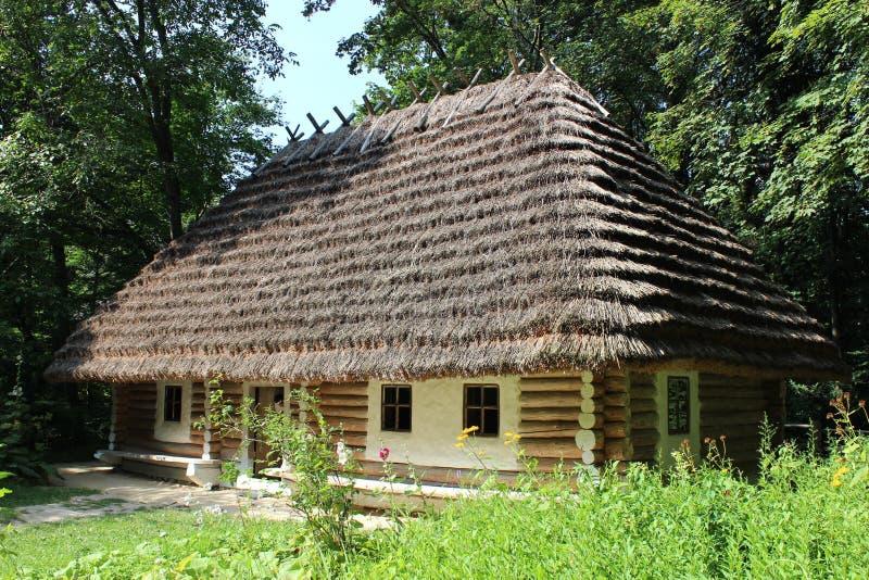 Old rural house in Carpathian region. In Ukraine royalty free stock photo