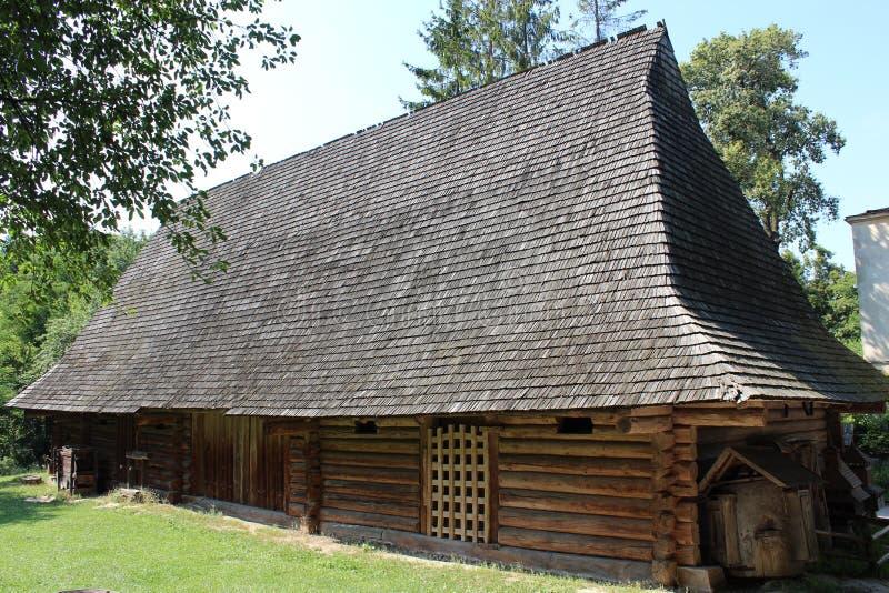 Old rural house in Carpathian region. In Ukraine stock image