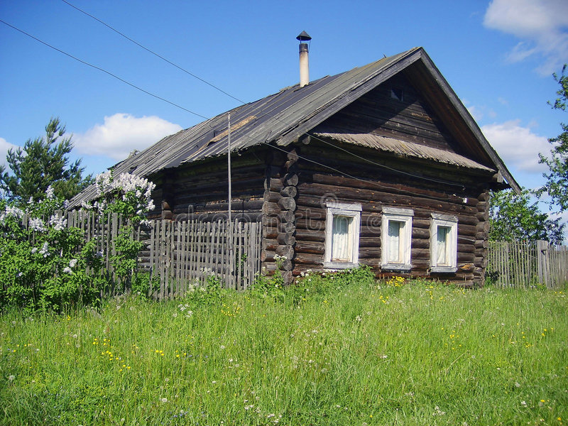 Old rural hut stock photo