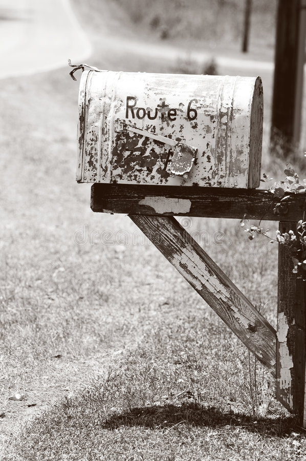 Old Rural Mailbox stock photos
