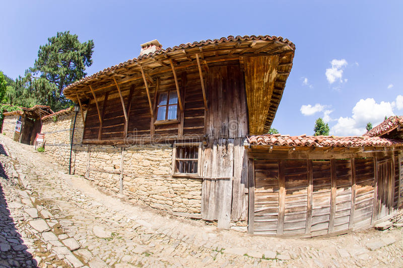 Old rural manor in the Bulgaria stock image