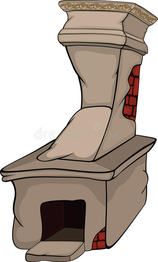 Old rural oven. Cartoon royalty free illustration