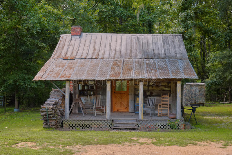 Old Rural Southern Log Cabin Stock Image Image 46140985