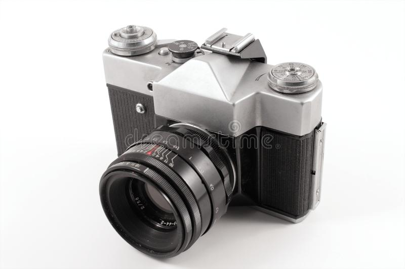 Old russian analog camera royalty free stock photography