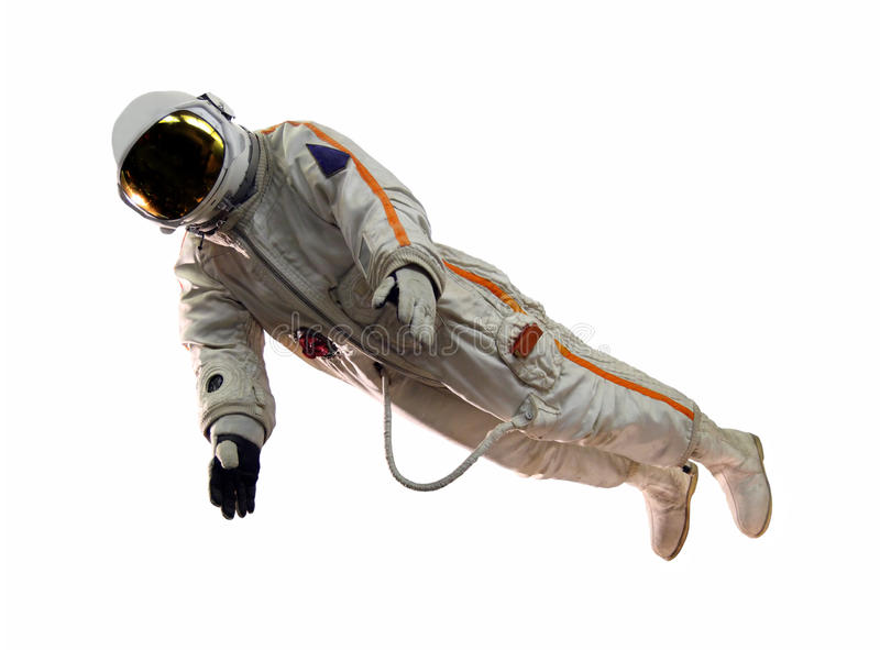 Old russian astronaut suit. Isolated on white royalty free stock photos
