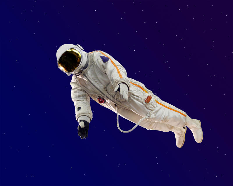 Old russian astronaut suit. Isolated on white stock image