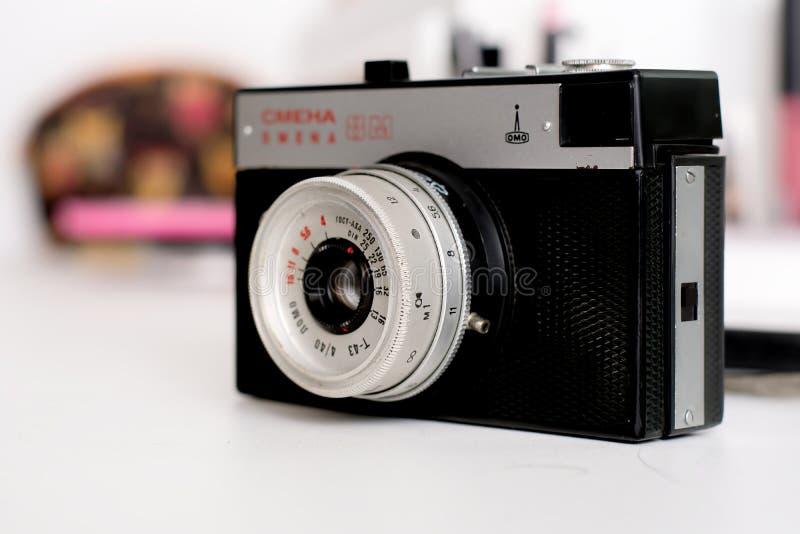 Old russian camera Smena royalty free stock photos
