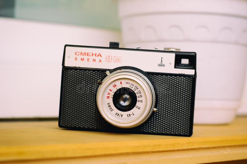 Old russian camera Smena royalty free stock image