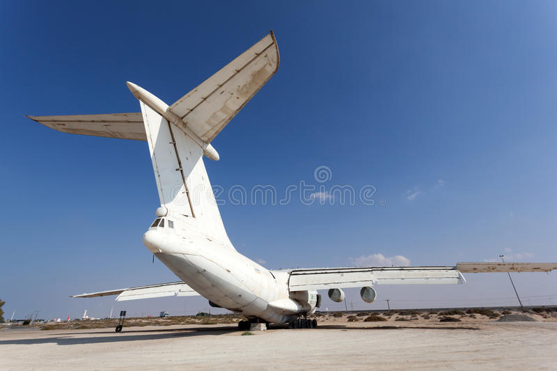 Old russian cargo plane stock image