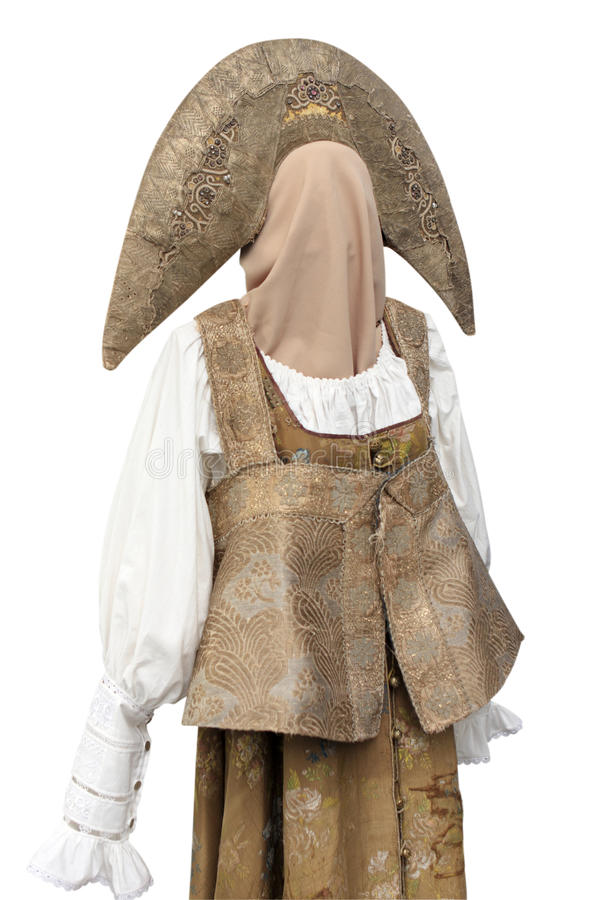 Old russian clothes stock images