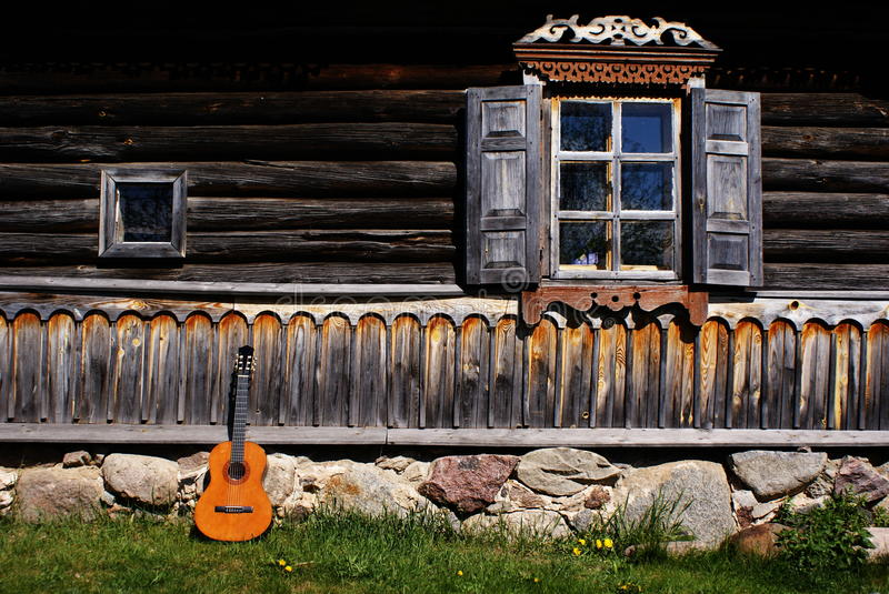 Old Russian house stock photos