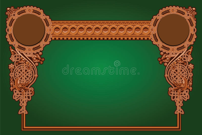 Old Russian ornament royalty free illustration