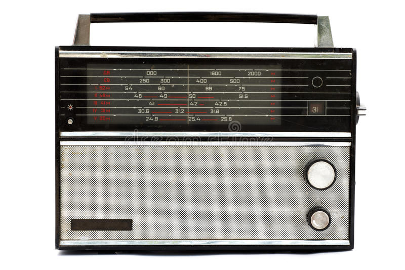 Old russian radio, VEF stock image