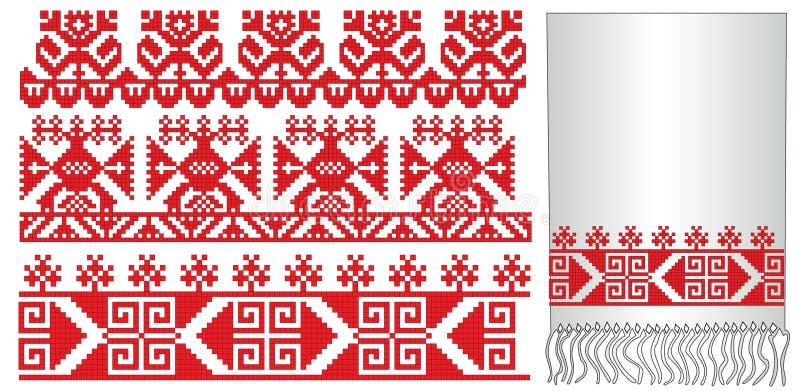 Old russian ukrainian embroider pattern stock illustration
