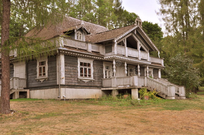 Old Russian wooden house royalty free stock images