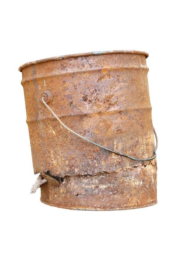 OLD RUST BUCKET stock image
