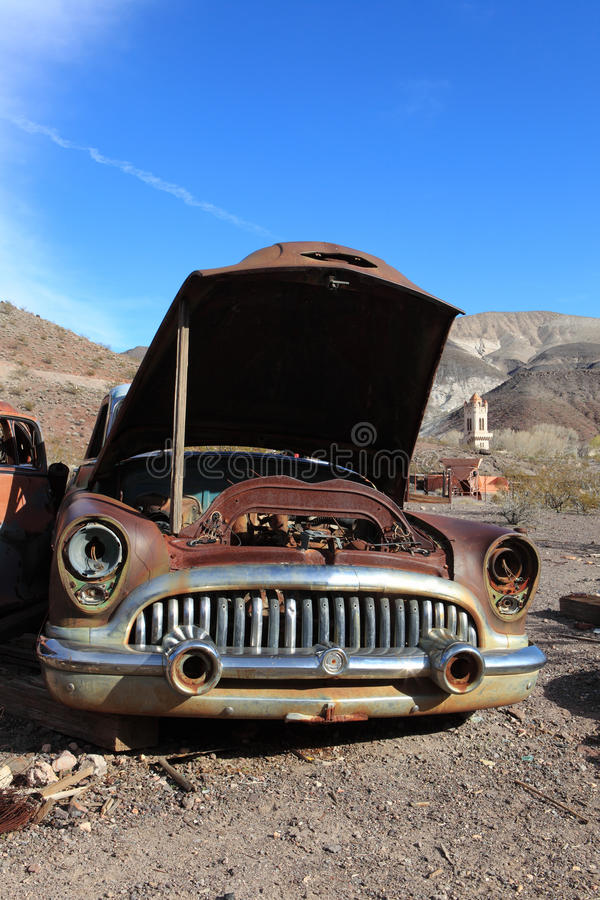 Free Old Rusted Car In Junk Yard Stock Image - 15491871