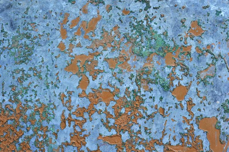 Old rusted corroded metal or steel sheet. Orange brown old rusted corroded metal or steel sheet horizontal wall background as abstract dirty textured metallic stock images