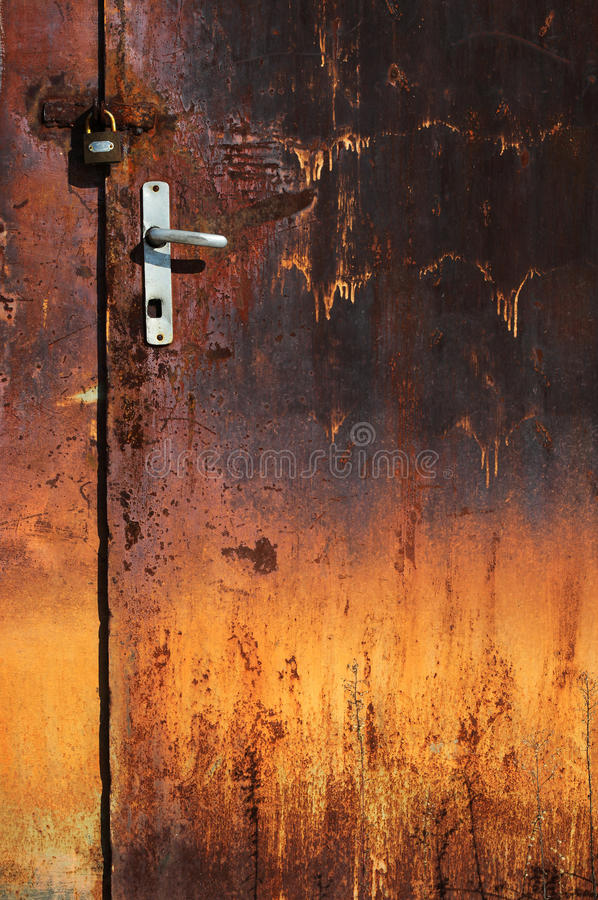 Old rusted door stock images