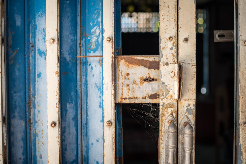 Old rusted iron gates royalty free stock photo