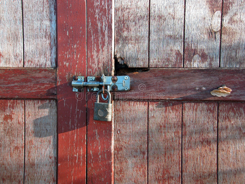 Old rusted lock stock image