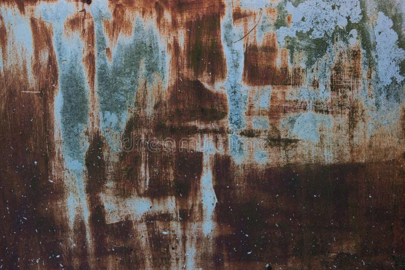 Old rusted metal background, texture or pattern. royalty free stock image