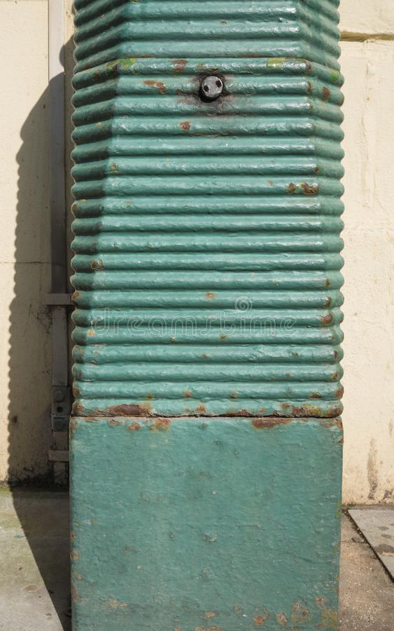 Old Turquoise Lamppost, Brighton, East Sussex, UK stock photo