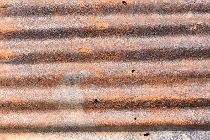 Old rusted zinc stock photography
