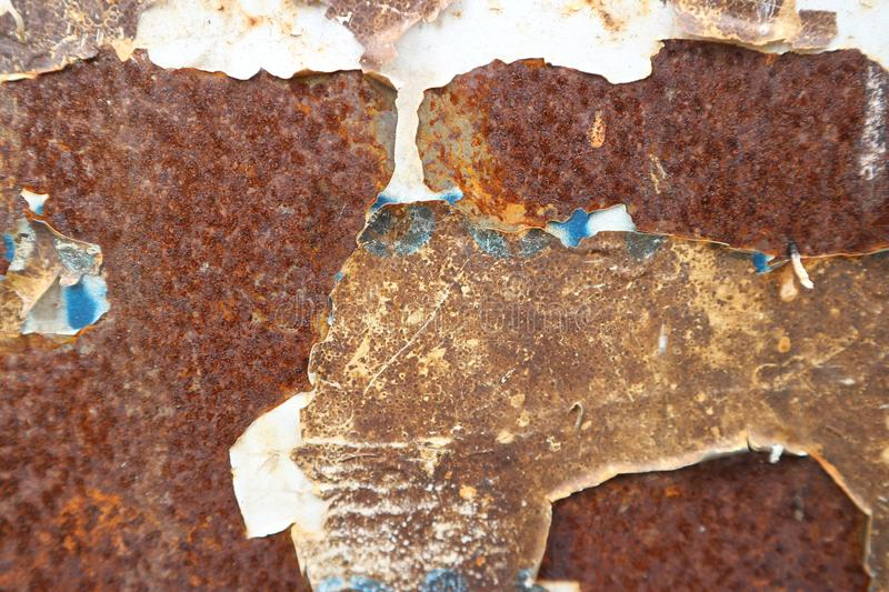 Old rusted zinc royalty free stock images