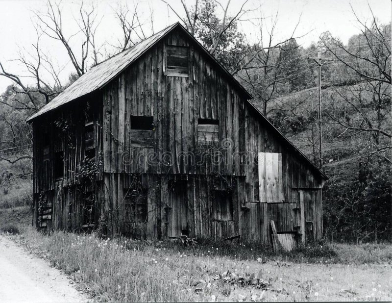 Old, Rustic Barn stock photos