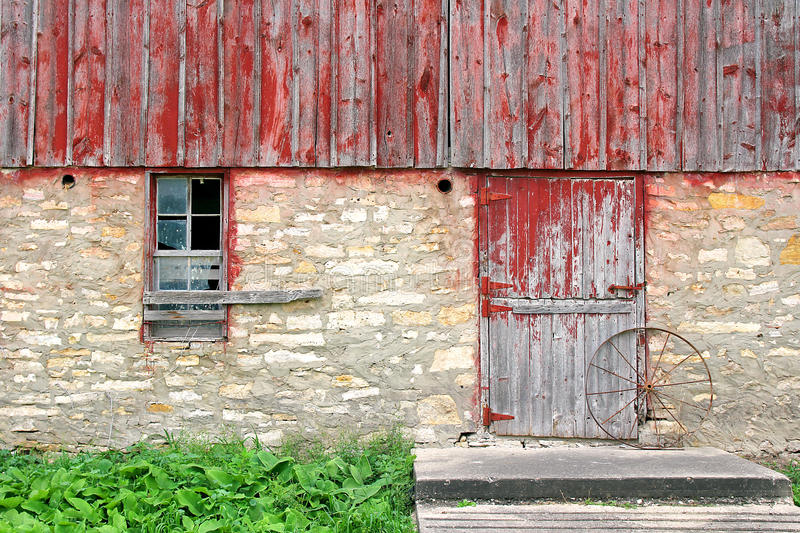 Old Rustic Barn Exterior Wall Background stock photos