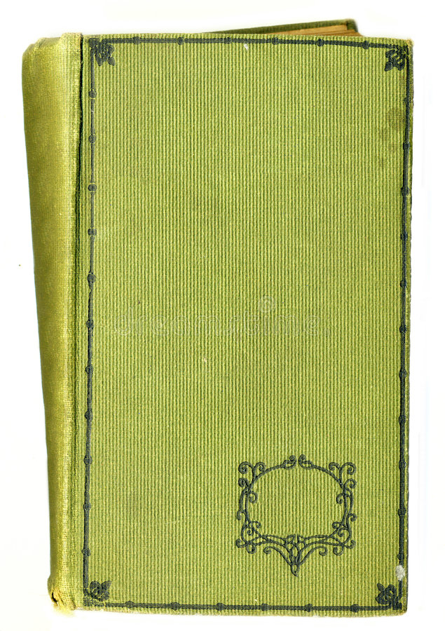 Old Rustic Book Cover With Decotative Floral