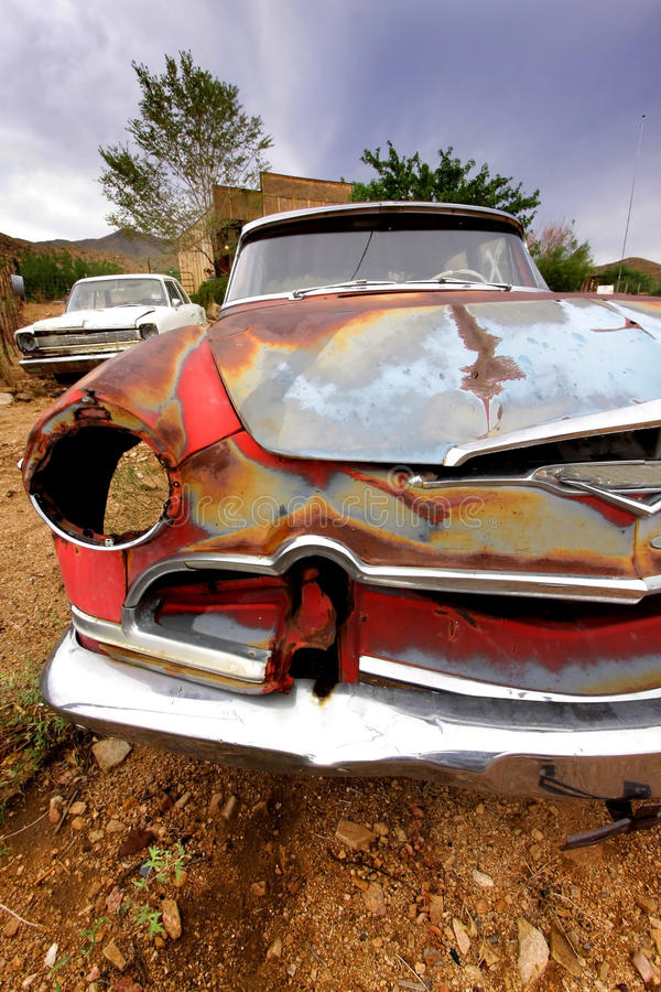 Old Rustic Car Body stock photo