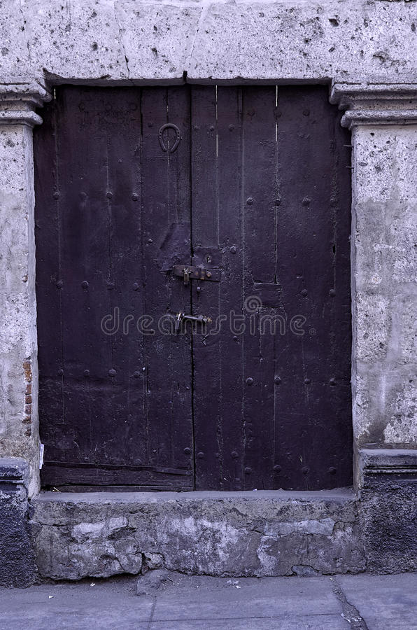 Old rustic door royalty free stock photography