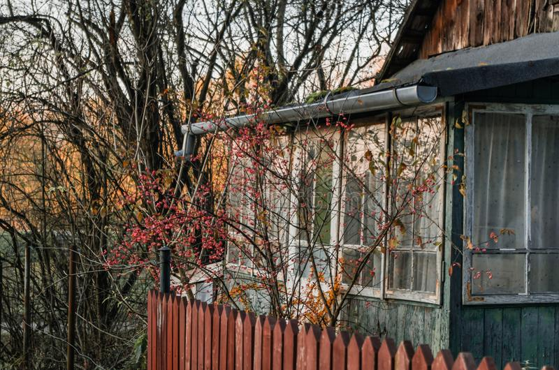 Download Old Rustic House Veranda Entrance To Vintage House With Red Wood  Stock Photo   Image