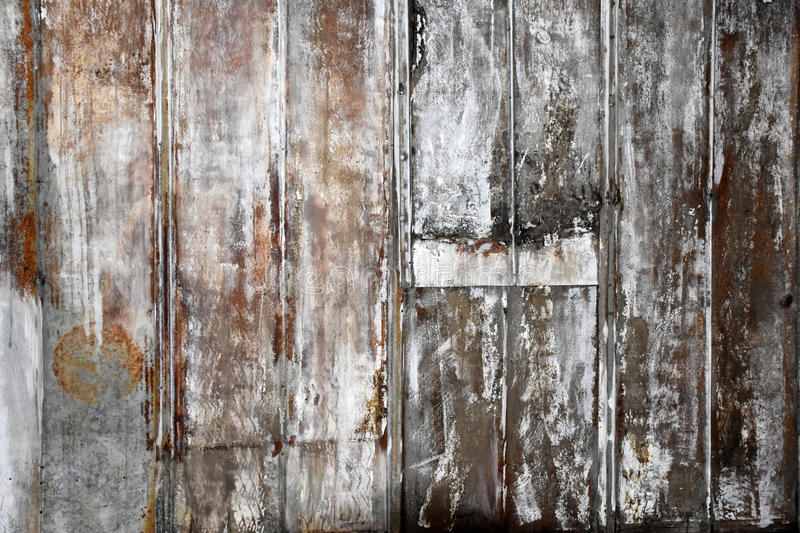 Old Rustic Metal. A layered patchwork of old rustic metal sheets stock images