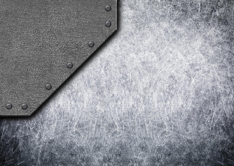 Old rustic metal plates with rivets seamless background or texture, 3d, illustration. Steel metal plates with rivets seamless background, 3d, illustration stock illustration