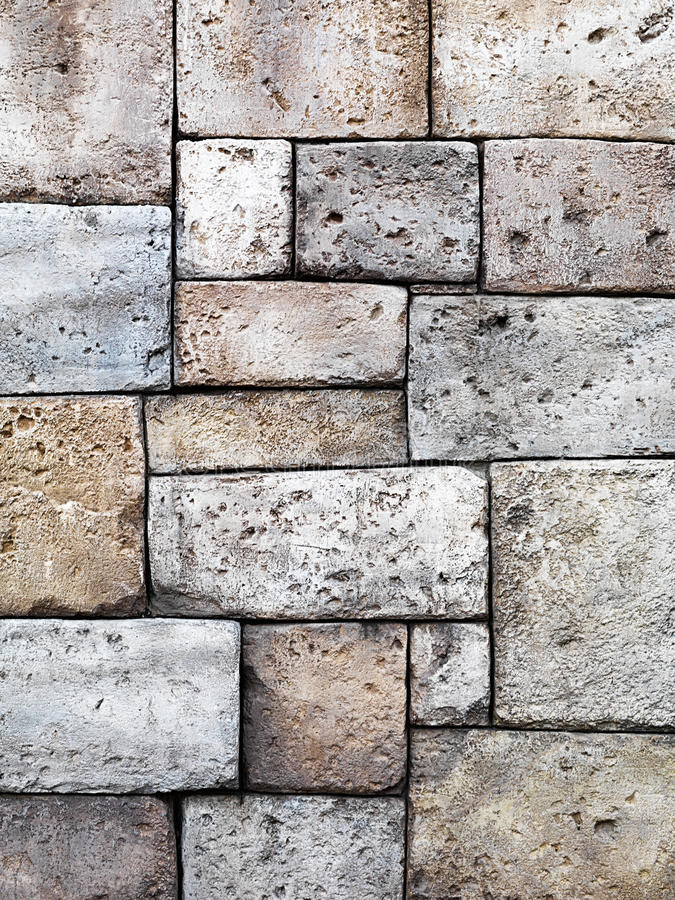 Download Old Rustic Stone Wall Texture Stock Image