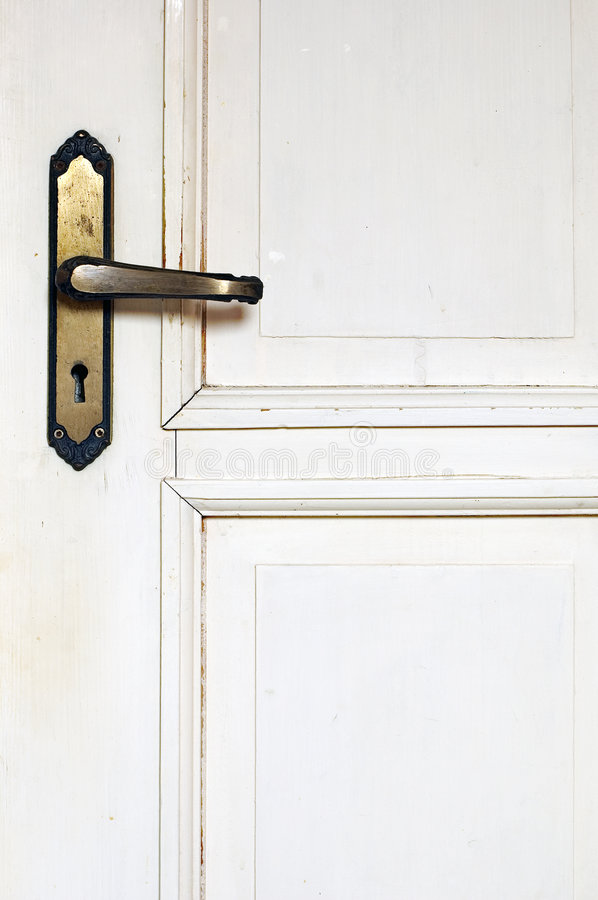 Free Old Rustic White Door Detail Stock Images - 7825544